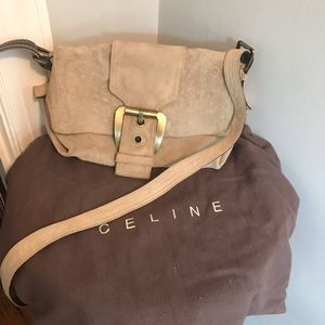 Authentic Celine Tan Suede Purse